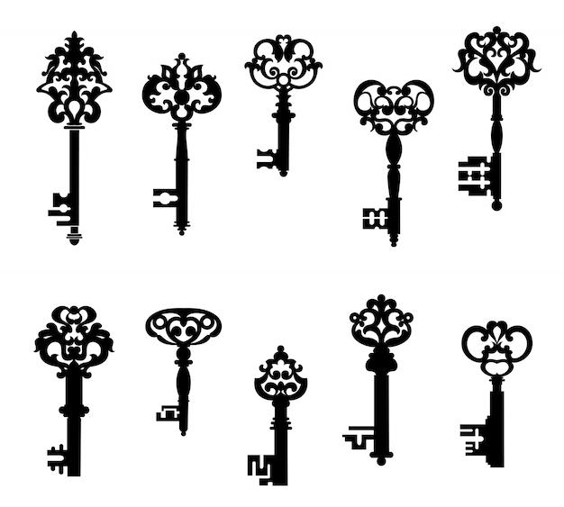 Juego de llaves antiguas