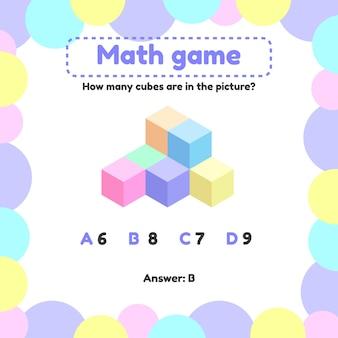 Juego de lógica matemática para niños en edad preescolar y escolar.