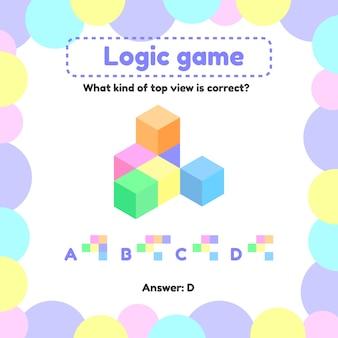Juego de lógica para niños en edad preescolar y escolar.