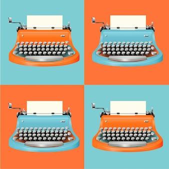 Juego de máquina de escribir vintage