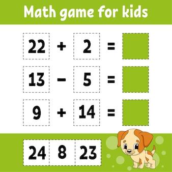 Juego de matemáticas para niños.