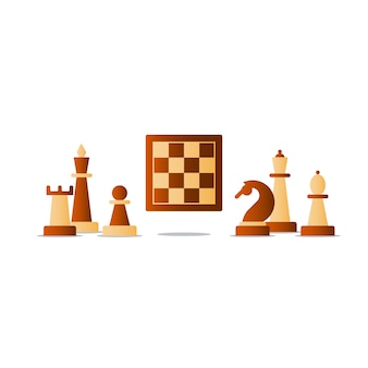 Juego de mesa de ajedrez, concepto de competencia,