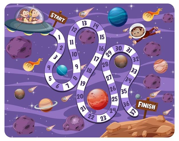 Juego de mesa path en el tema de la galaxia