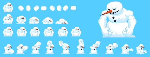 Juego de muñeco de nieve sprites