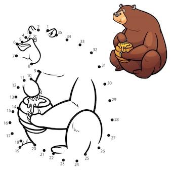 Juego de niños punto a punto oso