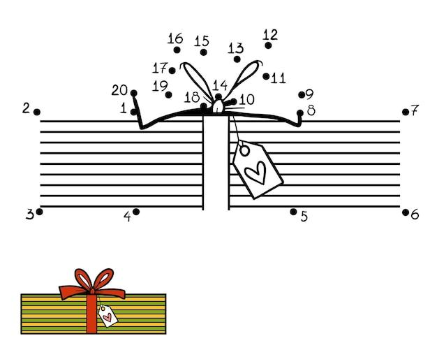 Juego de números, juego de educación punto a punto para niños, regalo de navidad