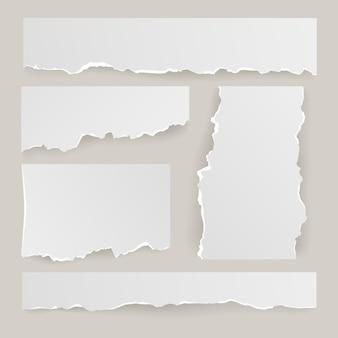 Juego de papel rasgado realista