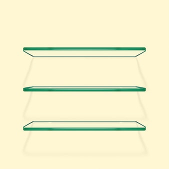 Juego de repisas de vidrio transparente