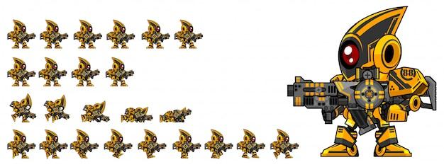 Juego de robot de artillero sprite