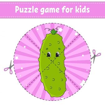 Juego de rompecabezas para niños.
