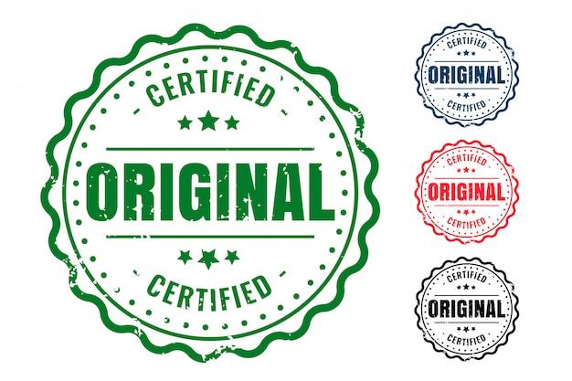 Juego de sellos de sello de goma de calidad original y certificada