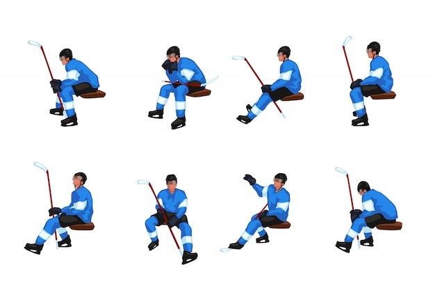 Juego de sentarse de hockey