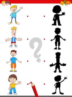 Juego de sombras con personajes de dibujos animados