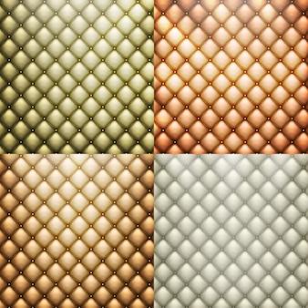Juego de tapicería de cuero - sofá tapizado.