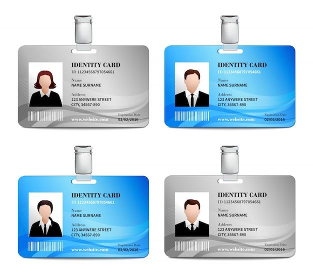 Juego de tarjetas de identificación