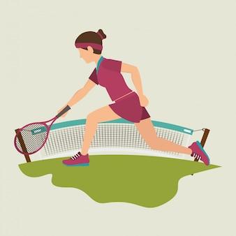 Juego de tenis deporte