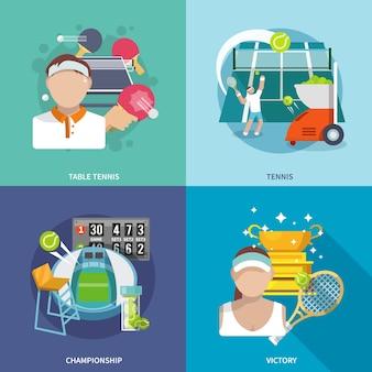 Juego de tenis plano