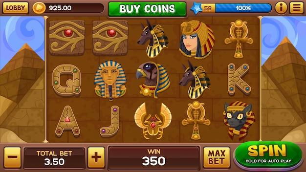 Juego de tragamonedas egipcio