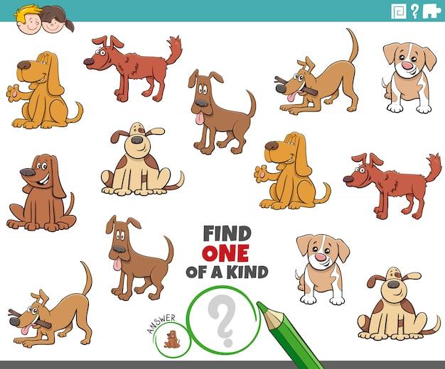 Un juego único para niños con perros divertidos