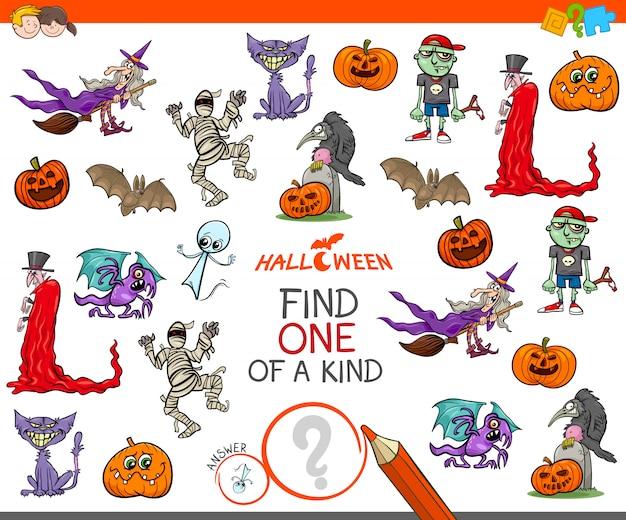 Un juego único con personajes de halloween