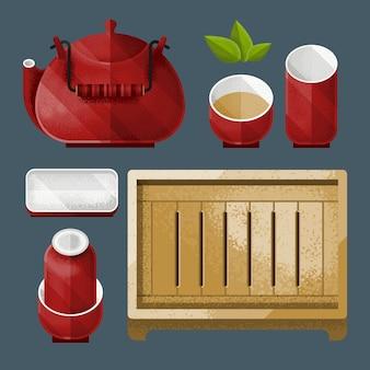 Juego de utensilios de té chino tradicional