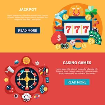 Juegos de casino banners set