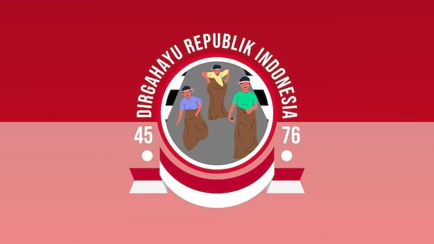 Juegos especiales tradicionales de indonesia durante el día de la independencia