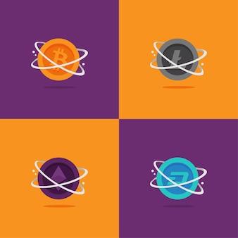 Juegos de logotipos de criptomonedas