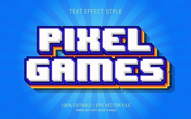 Juegos de pixeles estilo de efectos de texto