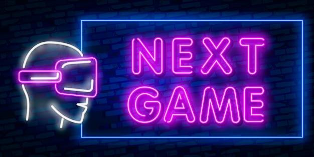 Juegos, sobre texto de neón con controlador.