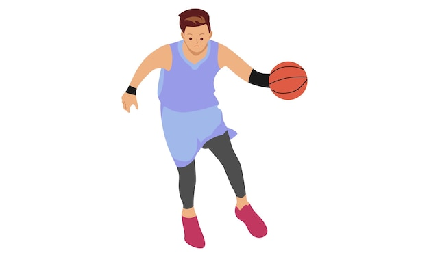 Jugador de baloncesto. concepto de deportes