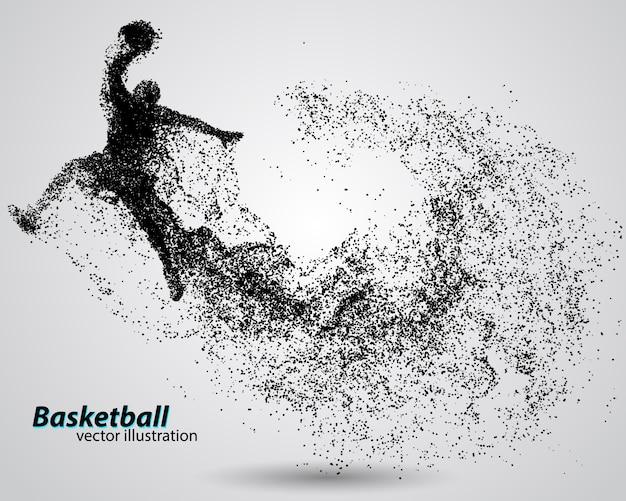 Jugador de baloncesto de partículas.