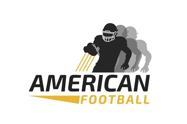 Jugador corriendo con el logo de pelota de fútbol