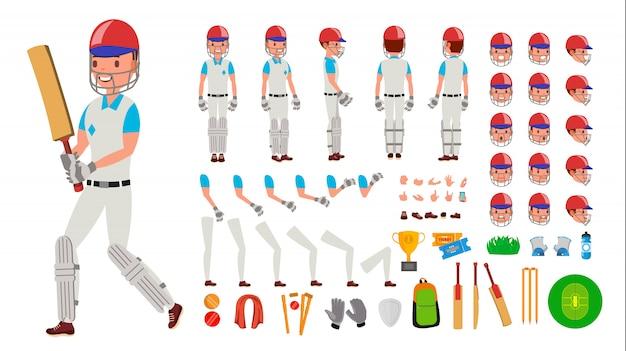 Jugador de cricket masculino