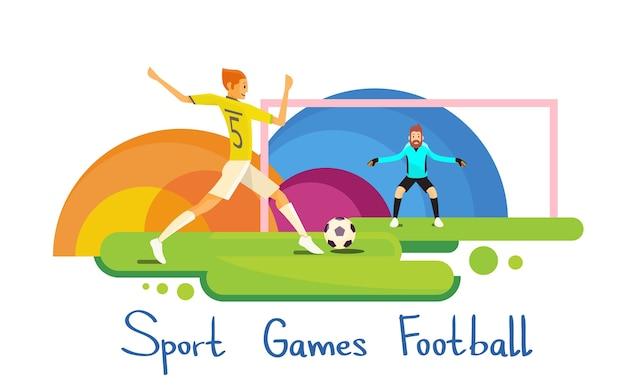 Jugador de fútbol atleta deporte competición bandera colorida