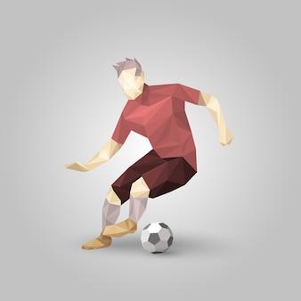 Jugador de fútbol geométrico