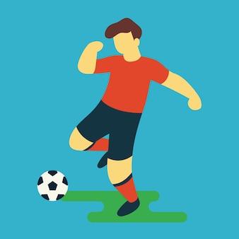 Jugador de fútbol shooting ball vector