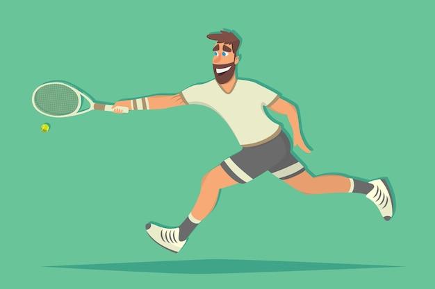 Jugador de tenis de dibujos animados