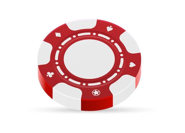 Jugando fichas de casino aislado sobre fondo blanco.
