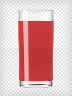 Jugo de fruta roja en un vaso