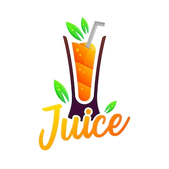 Jugo moderno gradiente colorido logotipo