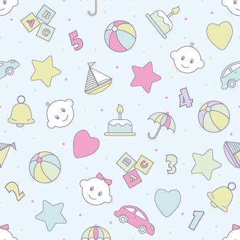 Juguetes para bebés sin patrón. se pueden usar para textiles, papel.