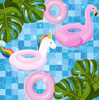Juguetes flotantes de la piscina