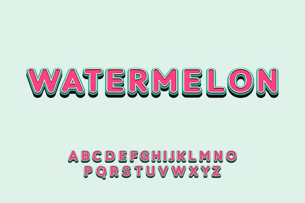 Juguetón retro en capas fuente colorido pantalla tipografía alfabeto conjunto
