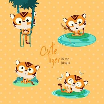 Jungle cute tiger