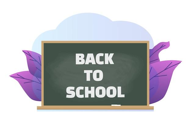 Junta escolar verde con texto - regreso a la escuela
