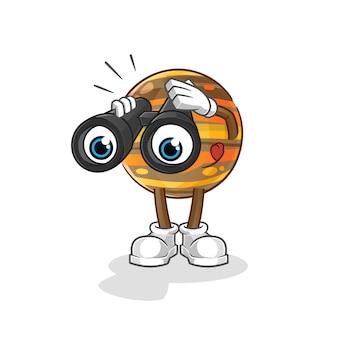 Júpiter con carácter binoculares.
