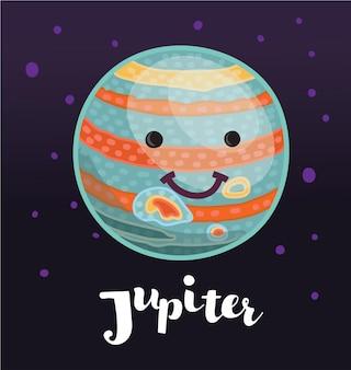 Júpiter de dibujos animados con un rayo