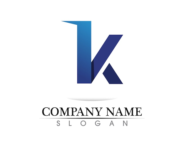 K letra k logo diseño y vector