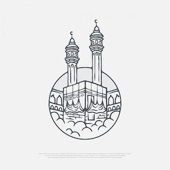 Kaaba sobre las nubes
